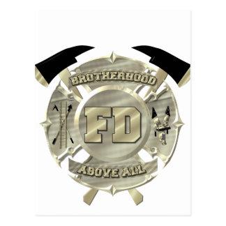 Símbolo de la fraternidad del bombero del oro postal