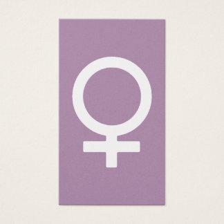 Símbolo de la hembra de la hierba de la lavanda tarjeta de negocios