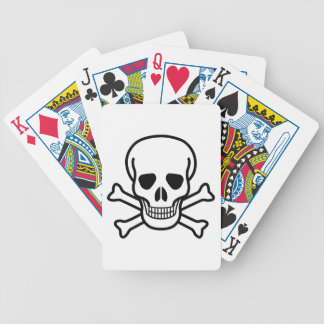 Símbolo de la muerte del cráneo y de la bandera baraja de cartas bicycle
