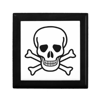 Símbolo de la muerte del cráneo y de la bandera joyero