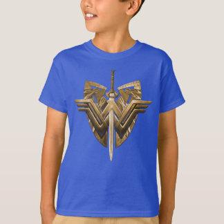 Símbolo de la Mujer Maravilla con la espada de la Camiseta