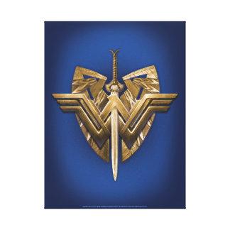 Símbolo de la Mujer Maravilla con la espada de la Impresión En Lienzo