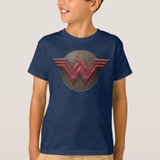 Símbolo de la Mujer Maravilla sobre círculos Camiseta