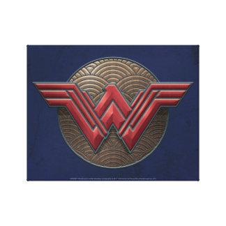 Símbolo de la Mujer Maravilla sobre círculos Impresión En Lienzo