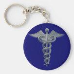 Símbolo de la profesión médica llaveros