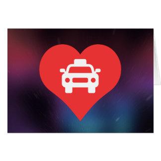 Símbolo de los taxistas tarjeta de felicitación