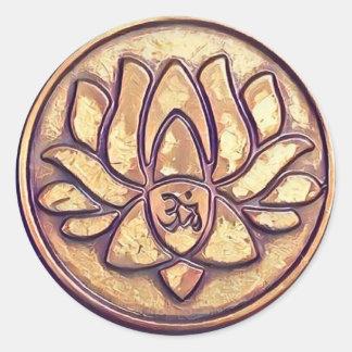 Símbolo de OM de la yoga Pegatina Redonda
