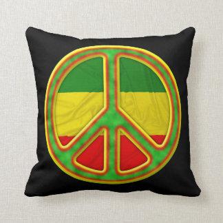 Símbolo de paz de Rasta Almohadas