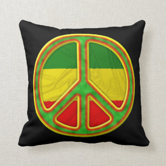 Símbolo de paz de Rasta Almohada