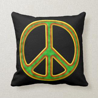 Símbolo de paz de Rasta Cojin