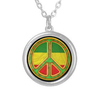 Símbolo de paz de Rasta Colgante Redondo