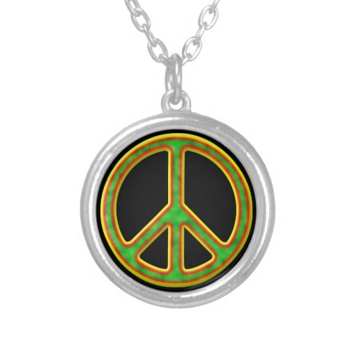 Símbolo de paz de Rasta Colgante Personalizado