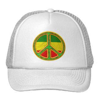 Símbolo de paz de Rasta Gorro De Camionero