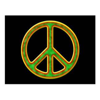 Símbolo de paz de Rasta Postal