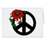 Símbolo de paz del día de fiesta tarjetón