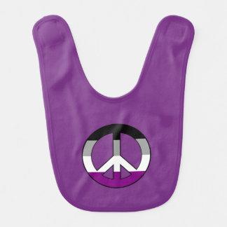 Símbolo de paz del orgullo del Asexuality Babero Para Bebé