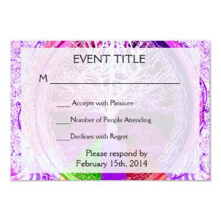 Símbolo de paz en colores del arco iris invitación 8,9 x 12,7 cm