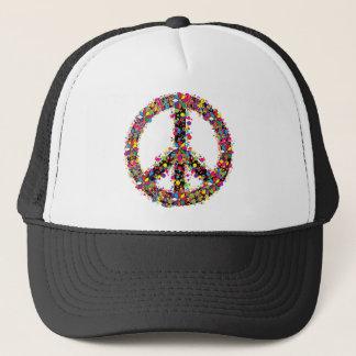 Símbolo de paz grande gorra de camionero