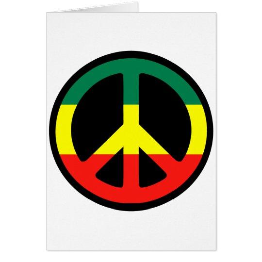 ¡Símbolo de paz para el mundo! Tarjeta