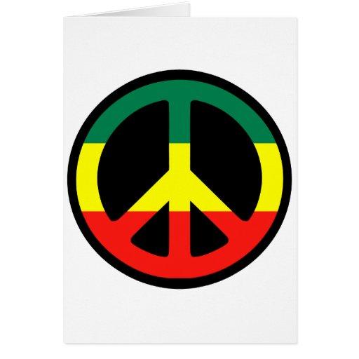 ¡Símbolo de paz para el mundo! Tarjeta De Felicitación