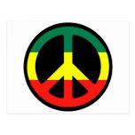 ¡Símbolo de paz para el mundo! Tarjeta Postal