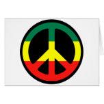 ¡Símbolo de paz para el mundo! Tarjeton