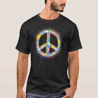 Símbolo de paz para los hippies camiseta