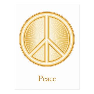 Símbolo de paz postal