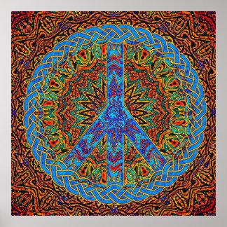 Símbolo de paz póster