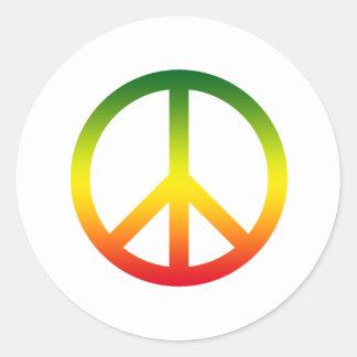Símbolo de paz Rasta Etiquetas