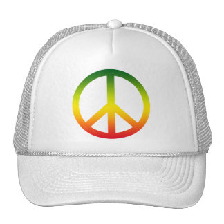 Símbolo de paz Rasta Gorra