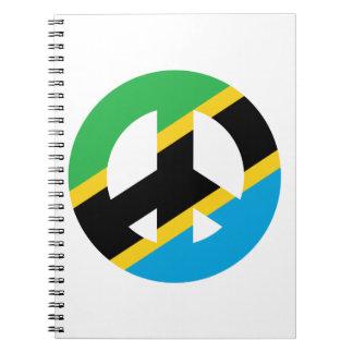 Símbolo de paz tanzano libros de apuntes