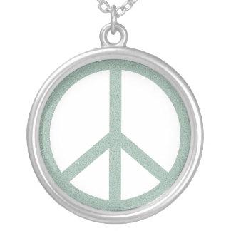 Símbolo de paz verde colgante redondo