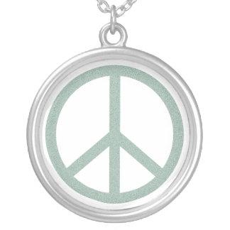 Símbolo de paz verde - otra versión colgante redondo
