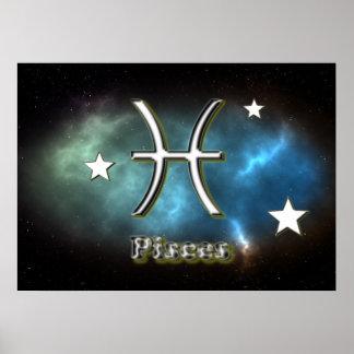 Símbolo de Piscis Póster
