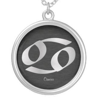 Símbolo de plata adaptable del zodiaco del cáncer grimpola personalizada