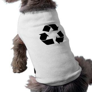 Símbolo de reciclaje negro camiseta sin mangas para perro
