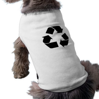 Símbolo de reciclaje negro camisa de mascota