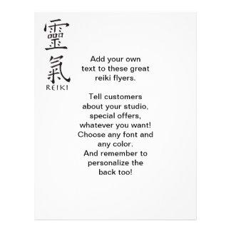 Símbolo de Reiki en tinta negra Flyer A Todo Color