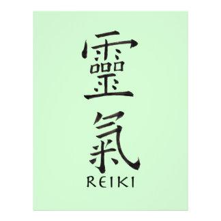 Símbolo de Reiki en tinta negra Folleto 21,6 X 28 Cm