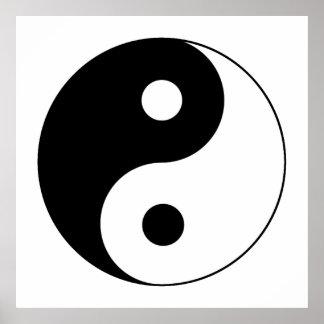 Símbolo de Yin/de Yang Póster