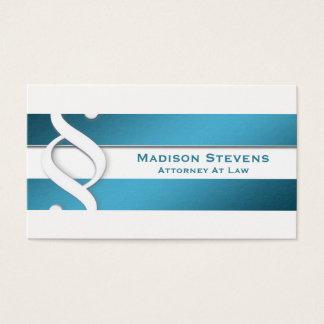 Símbolo del abogado del abogado del abogado tarjeta de visita