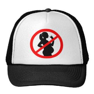 Símbolo del alcohol de la mujer embarazada gorras de camionero