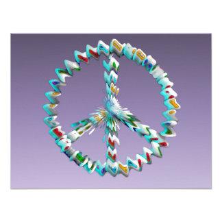 Símbolo del arte de la paz anuncio personalizado