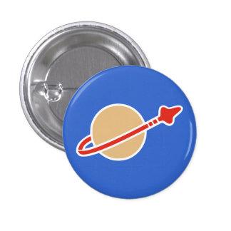 Símbolo del astronauta del espacio del ladrillo chapa redonda de 2,5 cm