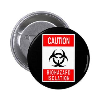 Símbolo del Biohazard Chapa Redonda De 5 Cm