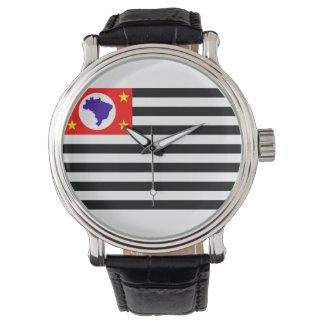 Símbolo del Brasil de la bandera de la ciudad de Reloj