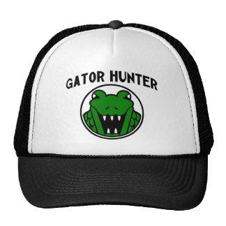 Símbolo del cazador del cocodrilo gorras de camionero