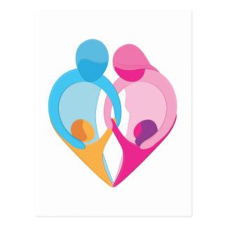 Símbolo del corazón del amor de la familia postal