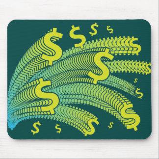 Símbolo del dólar del dinero alfombrilla de ratón